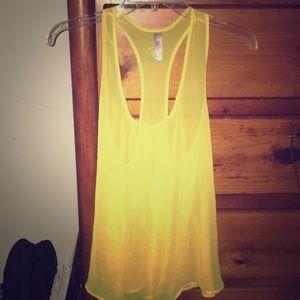 Sheer Yellow Tank Top
